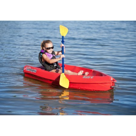 Sun-Dolphin-52210-Bali-6-Kayak-with-Bonus-Paddle-Red