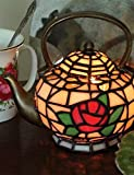 Tiffany Style Stained Glass Teapot Lamp Accent Lamp Night Light Table