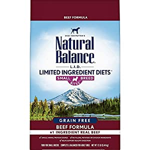 Natural Balance Limited Ingredient Diets Grain Free Dry Dog Food Beef Small Breed Bites 57