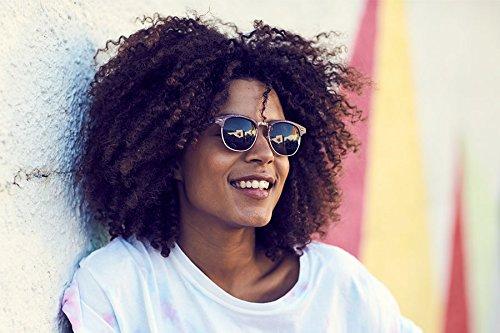 Ca Sunglasses Cheapass Marron Clubmaster 006 Femmes Rétro Hommes Miroitant Yxddwqr1