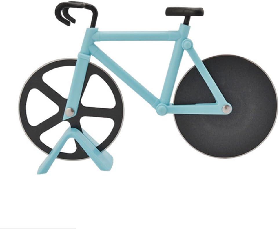 Cortador de pizza Ahomi, en forma de bicicleta, hoja de acero ...