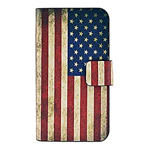 DUR Vintage Us Flag Pattern Full Body Leather Tpu Case for iPhone 4/4S