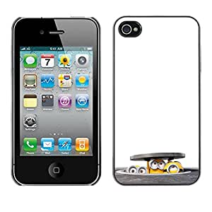 Peeping Bajo El Subcomité - Metal de aluminio y de plástico duro Caja del teléfono - Negro - iPhone 4 / 4S