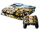 MODFREAKZ™ Console and Controller Vinyl Skin Set – Ancient Fantasy Girl for Playstation 4