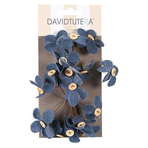 3 Sets David Tutera Flower Picks Denim 16 Pieces Per Set