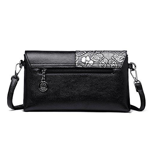 Soir Mode du Simple Black2 La Sac Sacs à Bracelet Femme Bandoulière De Mariage De Capacité Tempérament Grande Pochette 1wRPH