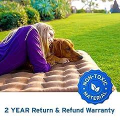 Twin size camping air mattress