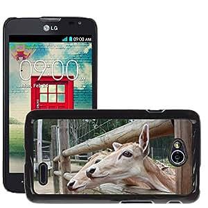 Grand Phone Cases Etui Housse Coque de Protection Cover Rigide pour // M00140454 Deer Animales Amigos Naturaleza Zoo // LG Optimus L70 MS323