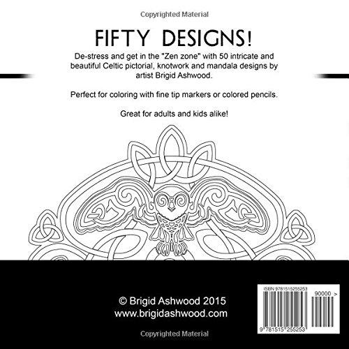 Celtic Mandalas Coloring Book Amazoncouk Brigid Ashwood 9781515255253 Books