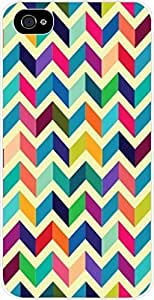 Colorful Matte Chevrons- Case for the Apple Iphone 4-4s Universal- Hard White Plastic BY RANDLE FRICK by heywan