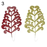 Butterfly Iron Christmas Tree Decorations, 2Pcs Artificial Christmas Colorful Leaves Xmas Tree Ornament Home Party Decor