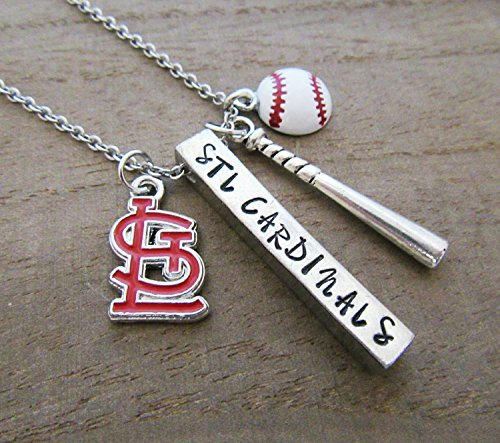 (St Louis Cardinals MLB Baseball Necklace STL Cards Jewelry )