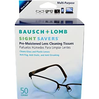 Bausch and Lomb Sight Savers Pre-Moistened Tissues -- 50 ct. (B00005RV60) | Amazon price tracker / tracking, Amazon price history charts, Amazon price watches, Amazon price drop alerts