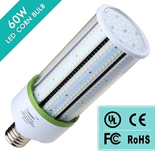DODORO 60 Watt LED Corn Blub,Large Mogul E39 Base,5000K Daylight White,8100 lumens,250W Halogen Bulb Equivalent,Replace HID, CFL, HPS,for Flood Light Area Lighting/Square/Plant/Garden/Yard/Hotel/ - Hps Floodlight