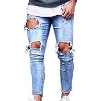 Hellomiko Pantalones para Hombre Estirar los Pantalones