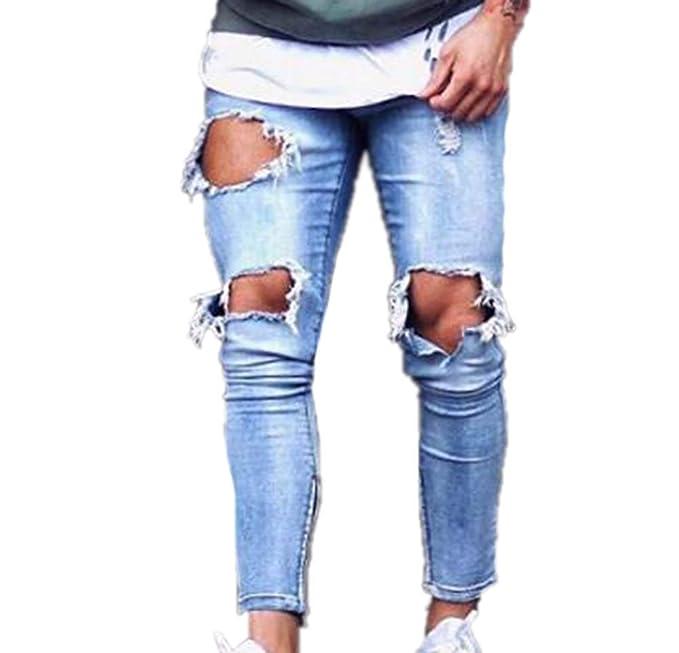 Hellomiko Pantalones para Hombre Estirar los Pantalones de ...