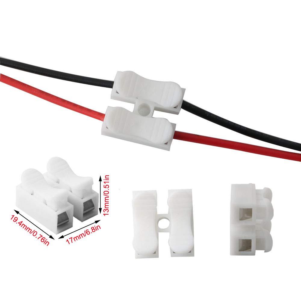 Bornes de Connexion automatique,LED connecteur de fil de lumi/ère de bande CH2 Connecteur Ressort RUNCCI 71pcs rapide connecteur de fil de c/âble
