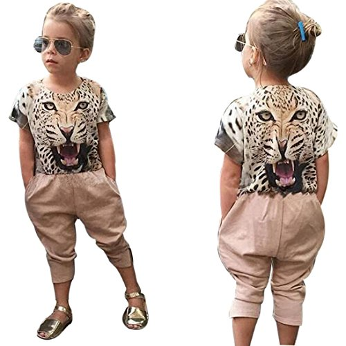 Baby Girls Casual T-Shirt Dress Set (Multicolor) - 5