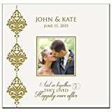 Personalized Mr & Mrs Wedding Anniversary Gifts Photo Album Holds 200 4x6 Photos Wedding Gift Ideas And so Together They Lived Happily Ever After Made By LifeSong Milestones