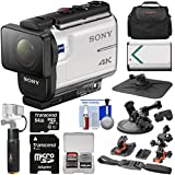 Sony Action Cam FDR-X3000 Wi-Fi GPS 4K HD Video Camera Camcorder Action Mounts + 64GB Card + Battery + 6000mAh Hand Grip + Case + Kit