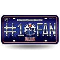 NHL Edmonton Oilers #1 Fan Metal Tag License Plate