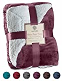Genteele Sherpa Throw Blanket Super Soft Reversible Ultra Luxurious Plush Blanket (50' X 60', Rich Purple)