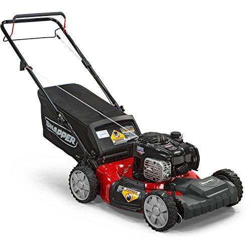 (Snapper New 21'' Front-Wheel Drive Self Propelled Gas Mower with Side Discharge, Mulching, and Rear Bag)