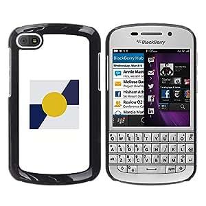 """For BlackBerry Q10 Case , Sun minimalista azul blanco impresiones"""" - Diseño Patrón Teléfono Caso Cubierta Case Bumper Duro Protección Case Cover Funda"""