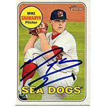 Mike Shawaryn Portland Sea Dogs 2018 Topps Heritage Minors Signed Card