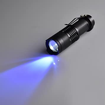 Linterna UV para detección de orina de mascotas Led Ultravioleta Detector de manchas de perro Cama Bug On Alfombra Alfombra Suelo Scorpion Mini Mano ...