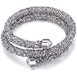 Elegant SWAROVSKI Elements Double-Wrap Bracelets Made with Crystals from Swarovski