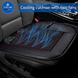 BruRkim Cooling Car Seat Cushion - 12V Automotive Adjustable Temperature Comfortable,Car Seat Cooler with Car Fan for Car Truck Home and Office
