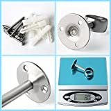 Alise 32mm/1-1/4 Inch Dia Shower Curtain Closet Rod Holder Pipe Flange Socket Ceiling Mount Bracket Pipe Fitting Parts Supports,2 Pcs SUS304 Stainless Steel Brushed Finish