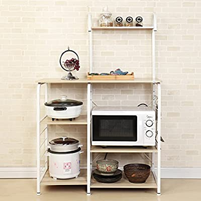 sogesfurniture Kitchen Baker's Rack Utility Microwave Oven Stand Storage Cart Workstation Shelf BHUS-172