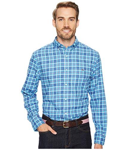 Vineyard Vines Men's Plaskett Creek Plaid Performance Flannel Classic Tucker Shirt (Small)
