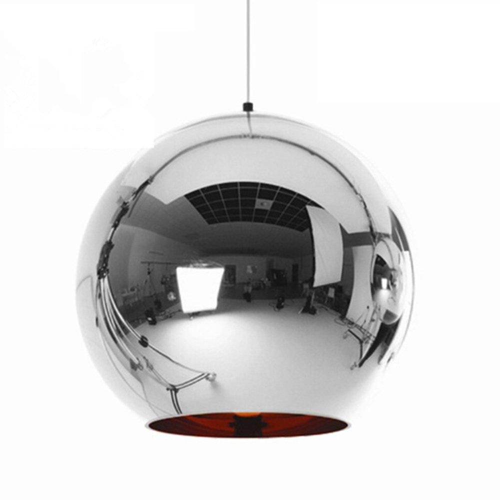 Moderno Mini Globe Iluminaci/ón Colgante Espejo Nordic Ball Shade L/ámpara de techo para Comedor Acabado en Pintura de Cobre Pulido Cobre 20cm