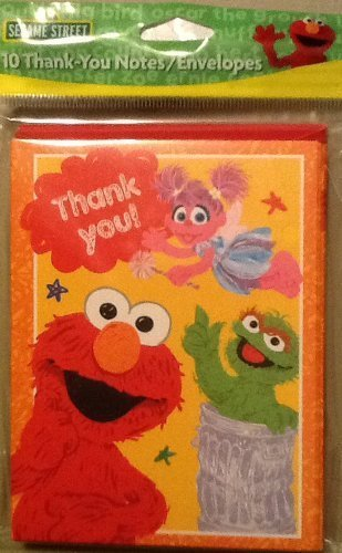 Sesame Street Thank You Cards - Pack of 10 American Greetings Corp.