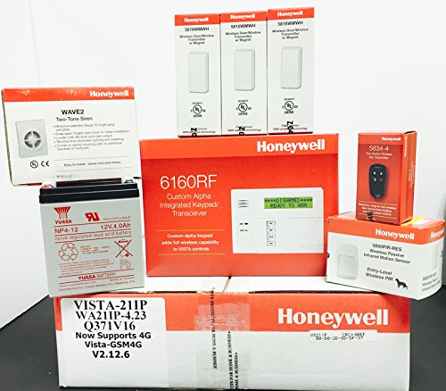 Honeywell Vista 21IP, 6160RF Keypad, (3) 5816WMWH, 5800PI...