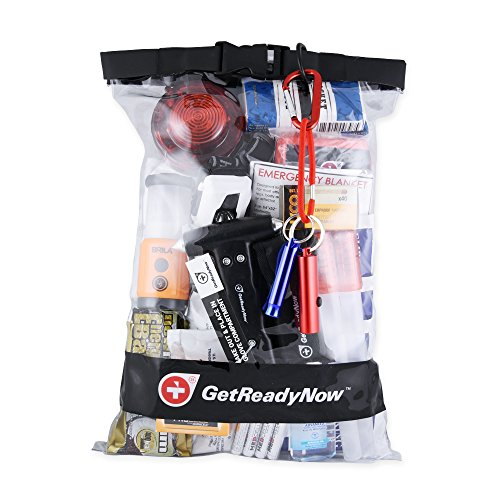 GetReadyNow Deluxe Car Emergency Kit | Compact Roadside S...