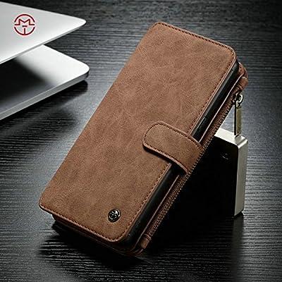 Étuis et housses de téléphone portable, Étui portefeuille CaseMe Samsung Galaxy Note 8 avec coque PC TPU détachable, luxe fait à la main, cuir TRIFOLD ( Couleur : Marron )
