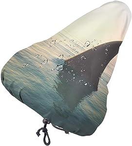 ArtSocket Bike seat Cover Shark Fin Above Ocean Fear Bike Covers Outdoor Storage Waterproof