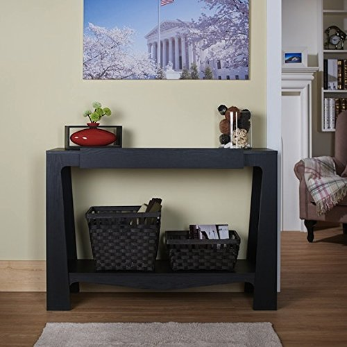 Furniture of America Urbana Black Modern Hall-Entry Way Wood Console Table