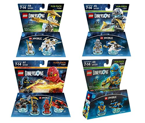 Ninjago Team Pack + Sensei Wu + Jay + Zane Fun Packs - LEGO Dimensions - Not Machine Specific