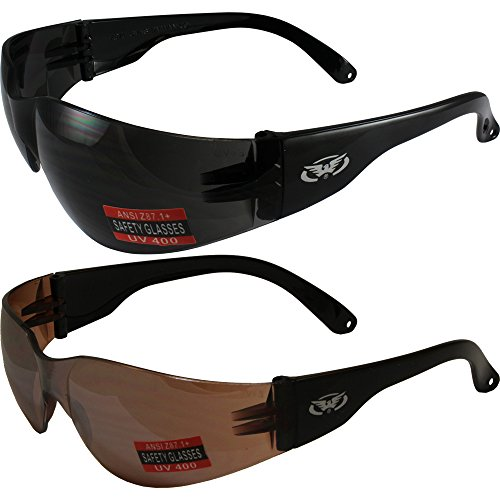 Two Pairs of Global Vision Rider Safety Motorcycle Riding Su