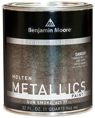 - Studio Finishes Molten Metallics - Quart (Gun Smoke)