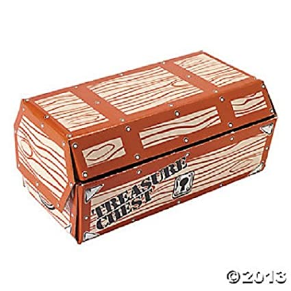 Pleasant Treasure Chest Large Cardboard Pirate Theme Party Favors Centerpiece Home Interior And Landscaping Ologienasavecom