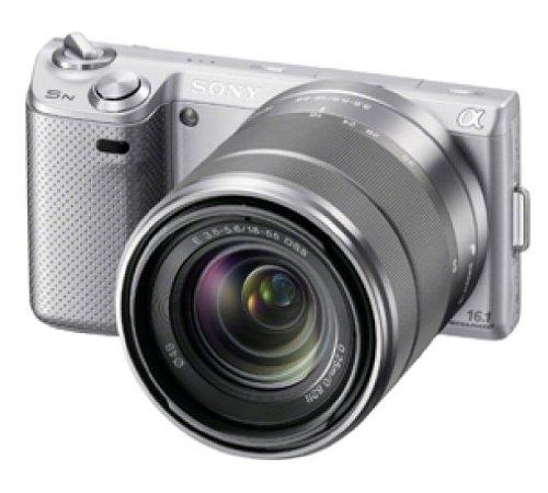 ソニー SONY ミラーレス一眼カメラ α NEX-5N ダブルズームレンズキット シルバー NEX-5NY/S