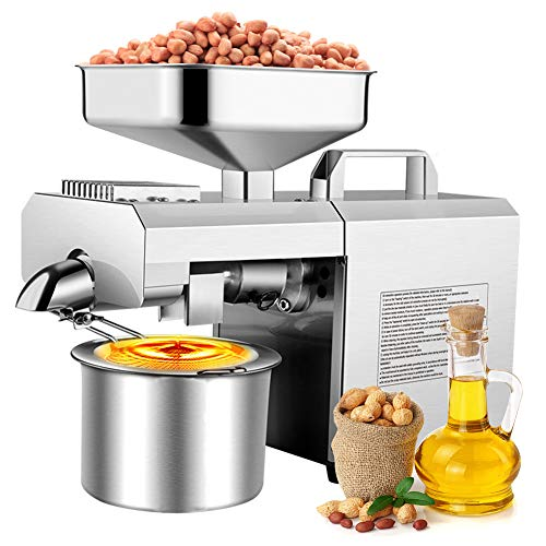 - Oil Press Machine, Oil Extractor Home Auto Physical Pressing for Peanut Flax Seed Avocado Coconut