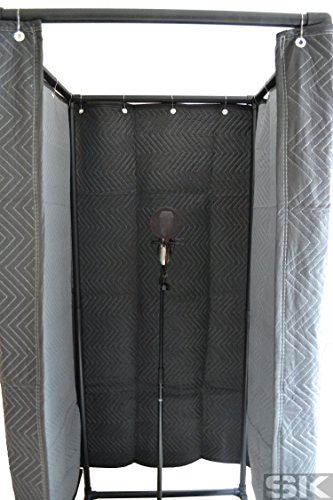 SK Vocal Booth - Deluxe Walk-In Sound Recording Studio Vocal Isolation Booth for creating Studio Acoustics and Reducing Sound Reflections, Noise & (Recording Booth)
