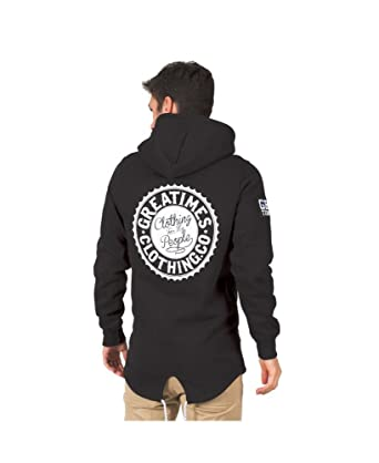 Sudadera Great Times Long Hoodie FW17 Negra - Color - Negro, Tallas - XS
